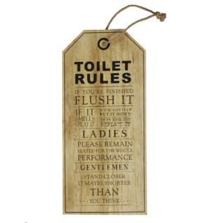 Toilet Rules -seinäkyltti