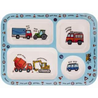 Lasten astiasto Ajoneuvot - Sormisyöntilautanen