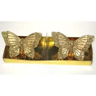 Kultaperhoset-kynttilät*