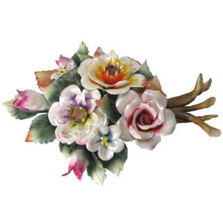 Posliini-kukkakimppu pöytämalli*