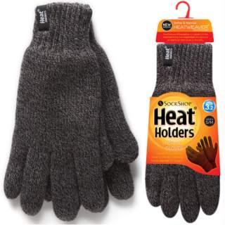 Heat Holders Men sormikkaat harmaa S/M