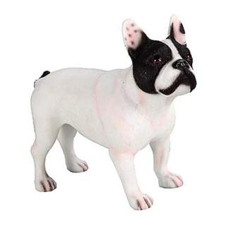 Ranskanbulldoggi -patsas musta/valk.
