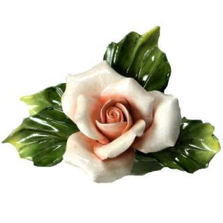 Posliini-ruusu pinkki pieni