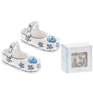 Posliinitossut ja kristalli Sininen