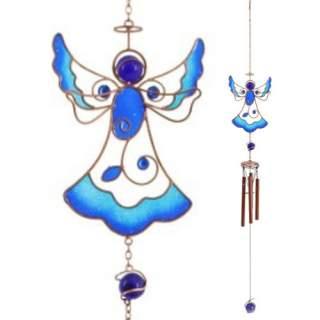 Tiffanyenkeli -tuulikello sininen