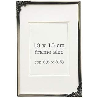 Ruusu-kehys hopea 10x15