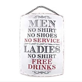 No Service - Free Drinks -seinäkyltti*