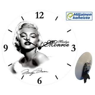 Seinä-/pöytäkello - Marilyn ja nimikirjoitus