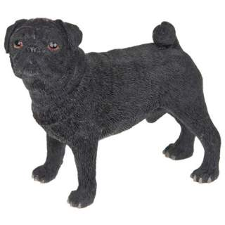 Mopsi -patsas musta 11 cm