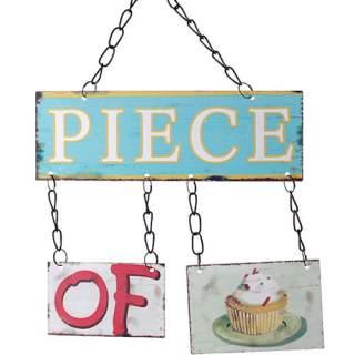 Piece of Cake -seinäkyltti*