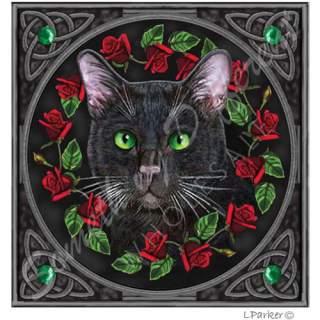 Kortti Musta kissa 13 x 13 cm
