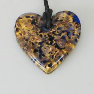 Lasikaulakoru kimaltava sydän sininen*
