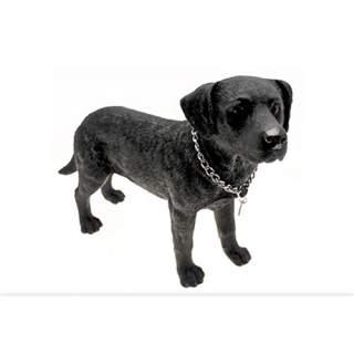 Musta labrador-patsas iso 50 cm