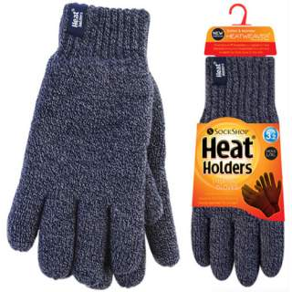Heat Holders Men sormikkaat siniharmaa S/M