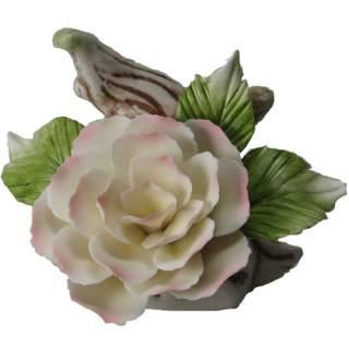 Posliini-valkoinen ruusu*