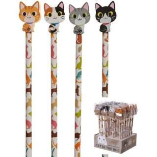Kissat -lyijykynä/kumi