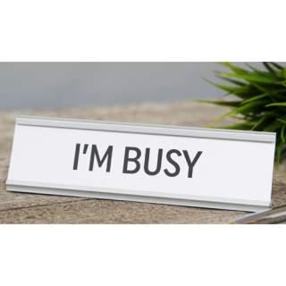 Tekstipalkki - I'm busy