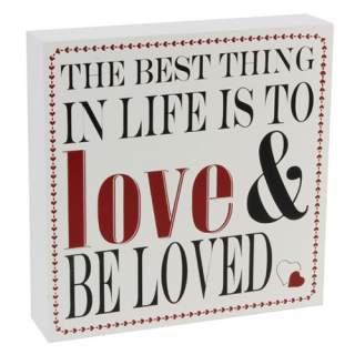 Love & Be loved -tekstikyltti*